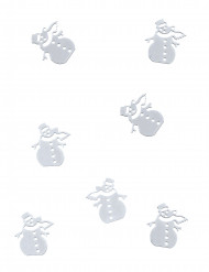 Confettis de table bonhomme de neige 10 gr
