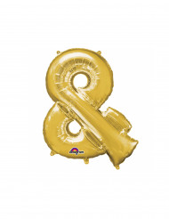 Ballon aluminium symbole & doré 35 cm