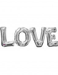 Ballon aluminium Love argent