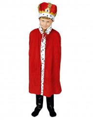 Cape roi rouge 80 cm enfant