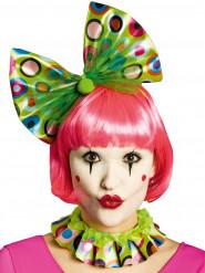 Col et serre tête clown vert adulte
