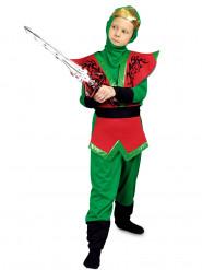 Déguisement ninja rouge et vert garçon