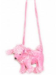 Sac chien en peluche rose