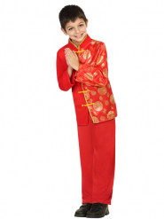 Déguisement chinois rouge et doré garçon