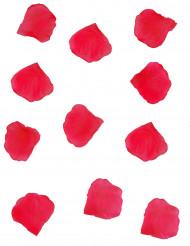 150 pétales de rose en tissu rouge