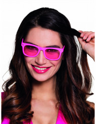 Lunettes rose fluo 80