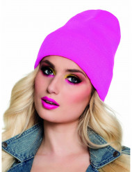 Bonnet rose fluo 90