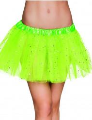 Tutu vert étoile scintillante femme