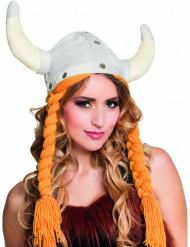 Chapeau viking avec tresses adulte