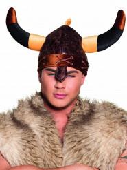 Casque viking marron adulte