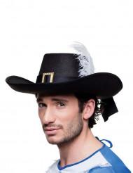 Chapeau mousquetaire noir adulte