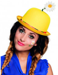 Chapeau clown jaune adulte