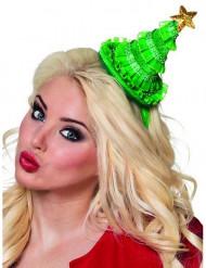 Mini chapeau sapin femme Noël