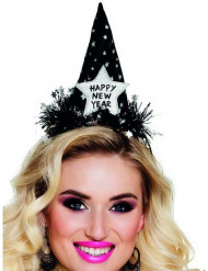 Chapeau Happy new year noir adulte