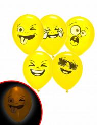 5 Ballons LED Illooms ® Imoji™