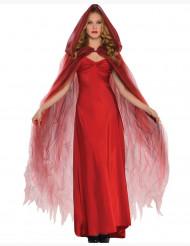 Cape en tulle rouge écarlate femme