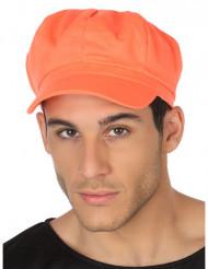 Casquette orange fluo adulte
