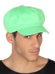 Casquette vert fluo adulte