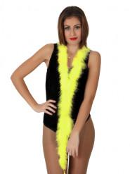 Marabou jaune 185 cm