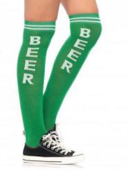 Chaussettes longues vertes adulte Fête de la bière
