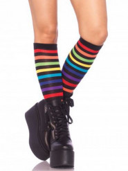 Chaussettes longues arc-en-ciel femme
