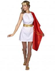 Déguisement romaine rouge et or femme