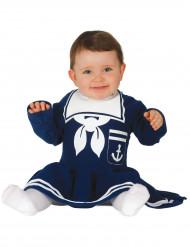 Déguisement robe marin bleue bébé