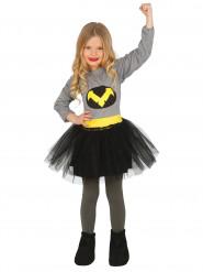 Déguisement super héros dans le noir fille