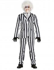 Déguisement costume rayé noir et blanc homme