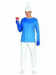 Déguisement nain bleu homme