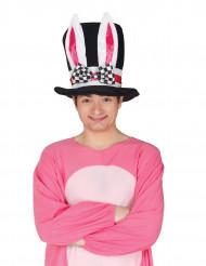 Chapeau haut de forme oreilles de lapin adulte