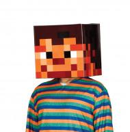 Casque carton pixelisé 30 X 30 cm adulte