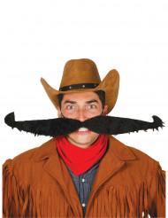 Maxi moustache noire 55 cm adulte