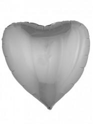 Ballon aluminium cœur argenté 76 cm