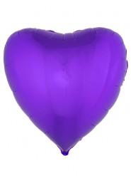 Ballon aluminium coeur violet 76 cm