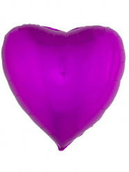 Ballon aluminium coeur rose fuschia 76 cm