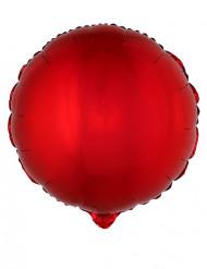 Ballon aluminium rond rouge 45 cm