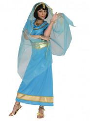 Déguisement princesse Bollywood bleue femme