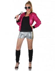 Veste à paillettes rose femme