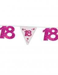 Guirlande fanions anniversaire 18 ans rose