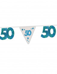 Guirlande bleue 50 ans 6 m