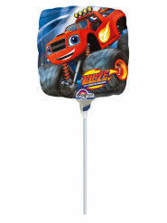 Ballon aluminium Blaze et les Monster Machines ™ 23 cm gonflé