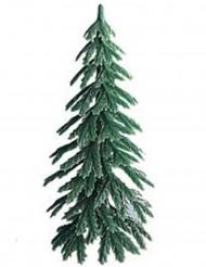 Pic décoratif Sapin plastique bûche de Noël 7 cm