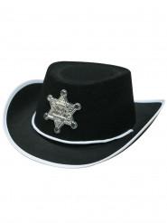 Chapeau shériff noir enfant