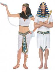 Déguisement de couple Egyptiens bleus adulte