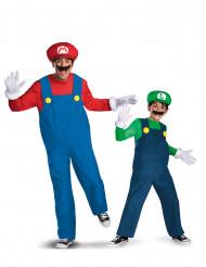 Déguisement de couple Mario™ et Luigi™ père et fils