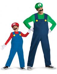 Déguisement de couple Luigi™ et Mario™ père fils