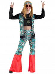 Déguisement hippie bleu psychédélique femme
