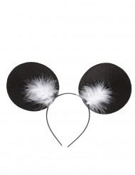 Serre-tête oreilles de souris avec plumettes adulte