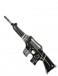 Mitraillette gangster gonflable noire et blanche 90 cm